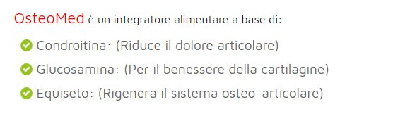 osteomed ingredienti