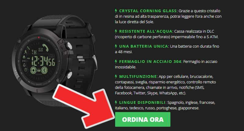 x tactical watch prezzo e offerte
